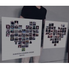 Картина з фото у формі серця
